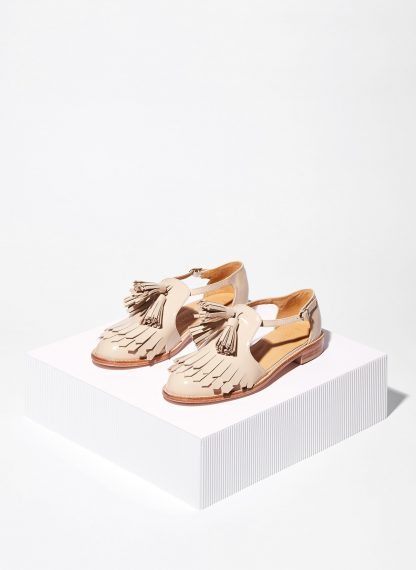 FRINGED SANDALS WITH TASSELS